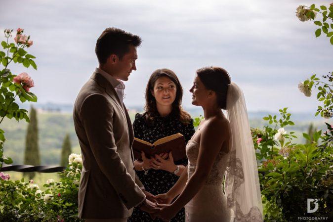 celebrant couple celebrating wedding ceremony